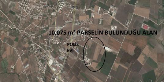POLİS EVİ ARKASINDA 10.075 m² SULU BAHÇE