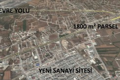 YENİ SANAYİ ANA CADDE ÜZERİNDE 1800 m² PARSEL