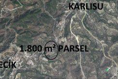 KİSECİK KÖYÜNDE 1.800 m TARLA